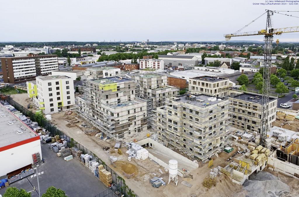 Luftaufnahme Köln Ehrenfeld, Grüner Weg